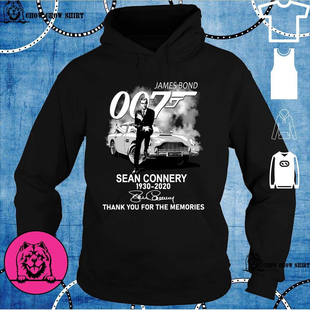 James Bond 007 Sean Connery 1930 – 2020 Signature Thank You For The Memories Shirt hoodie