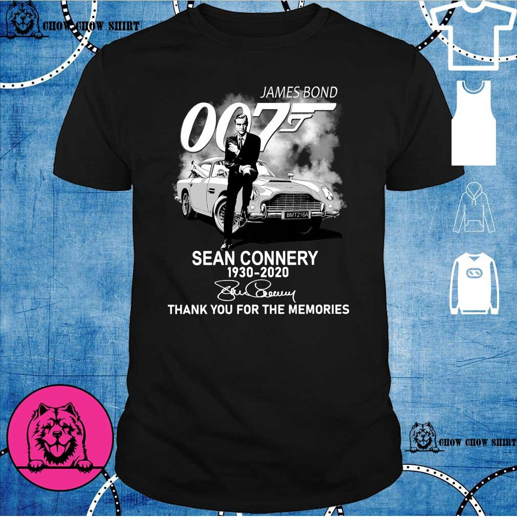 James Bond 007 Sean Connery 1930 – 2020 Signature Thank You For The Memories Shirt