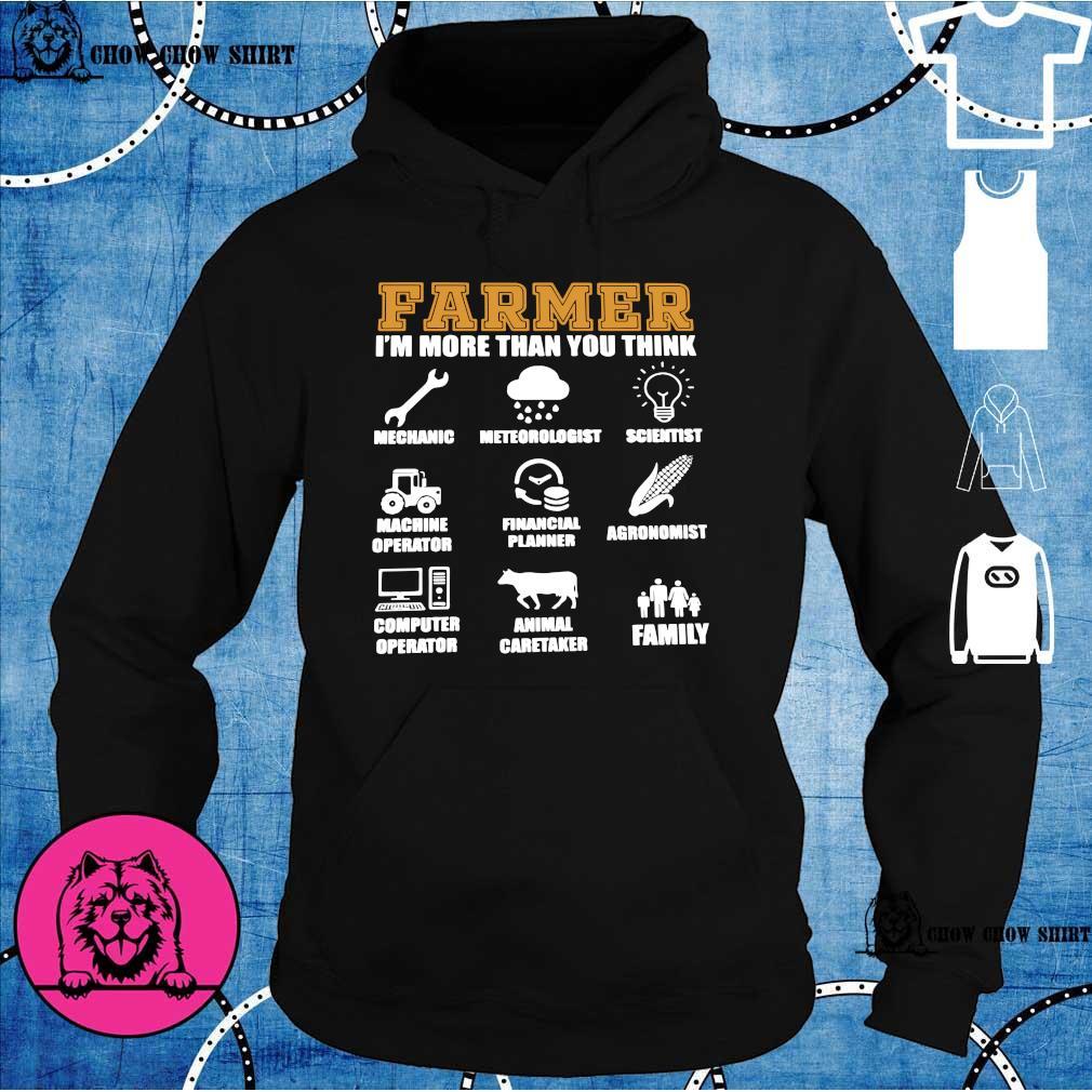 Farmer i'm more than you think mechanic hoodie