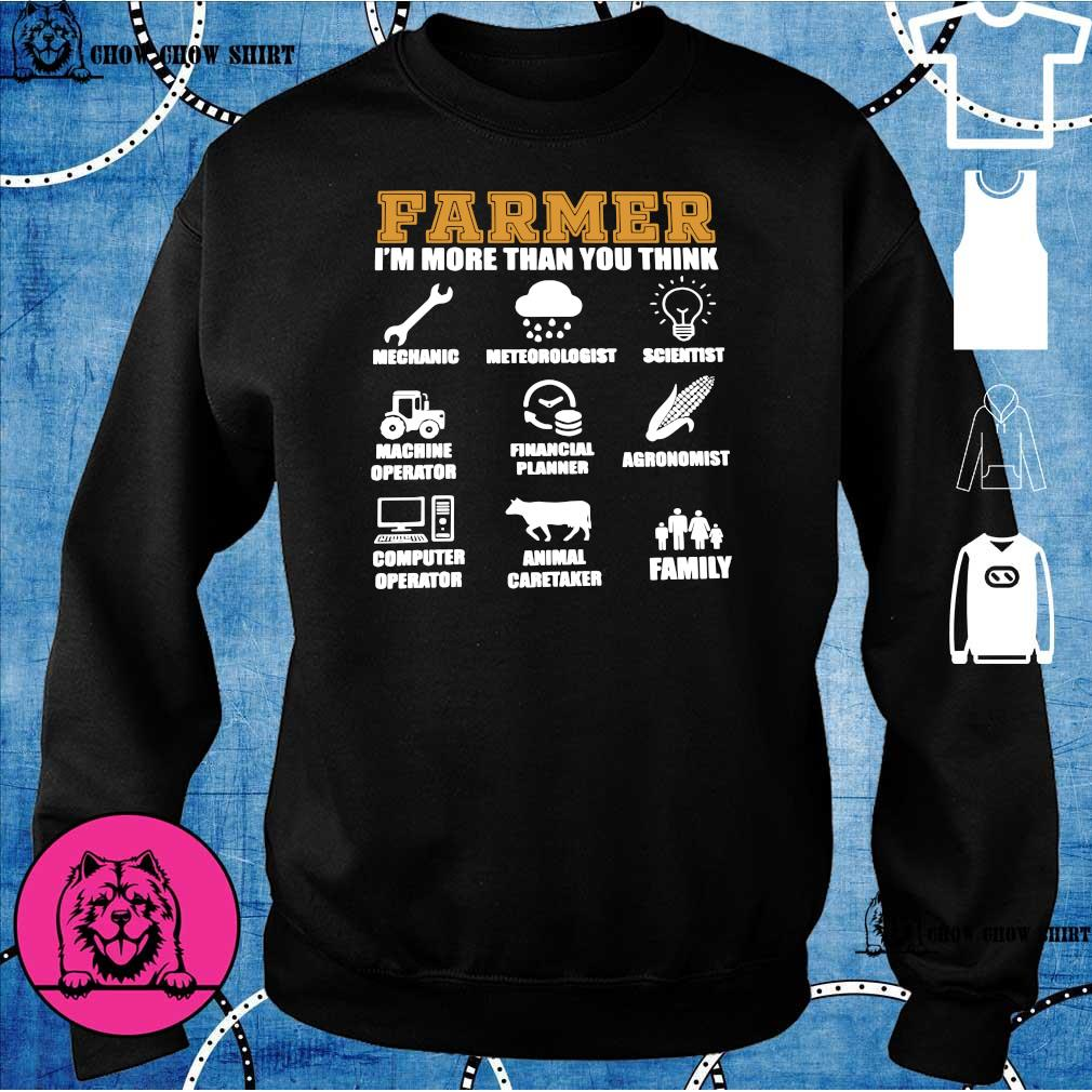 Farmer i'm more than you think mechanic sweater