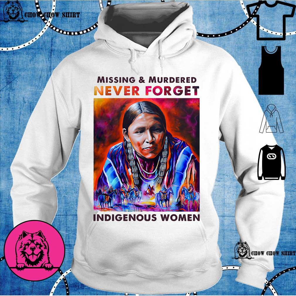 Native Missing and murdered never forget Indigenous women hoodie