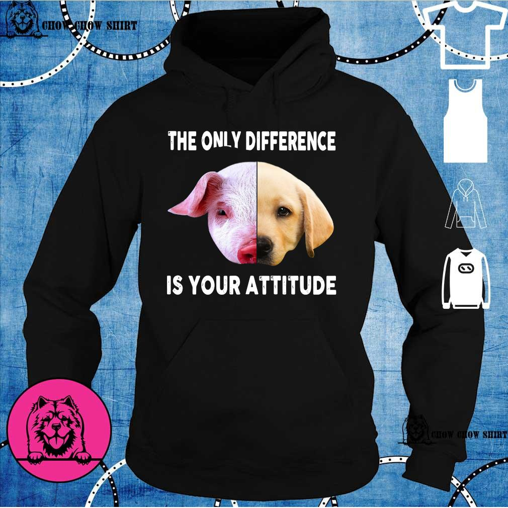 Pig and dog the only difference is your attitude hoodie