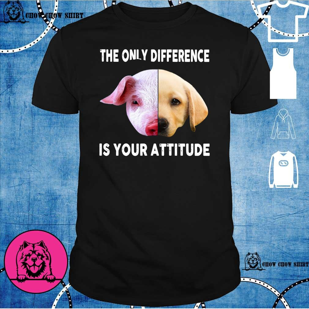 Pig and dog the only difference is your attitude shirt