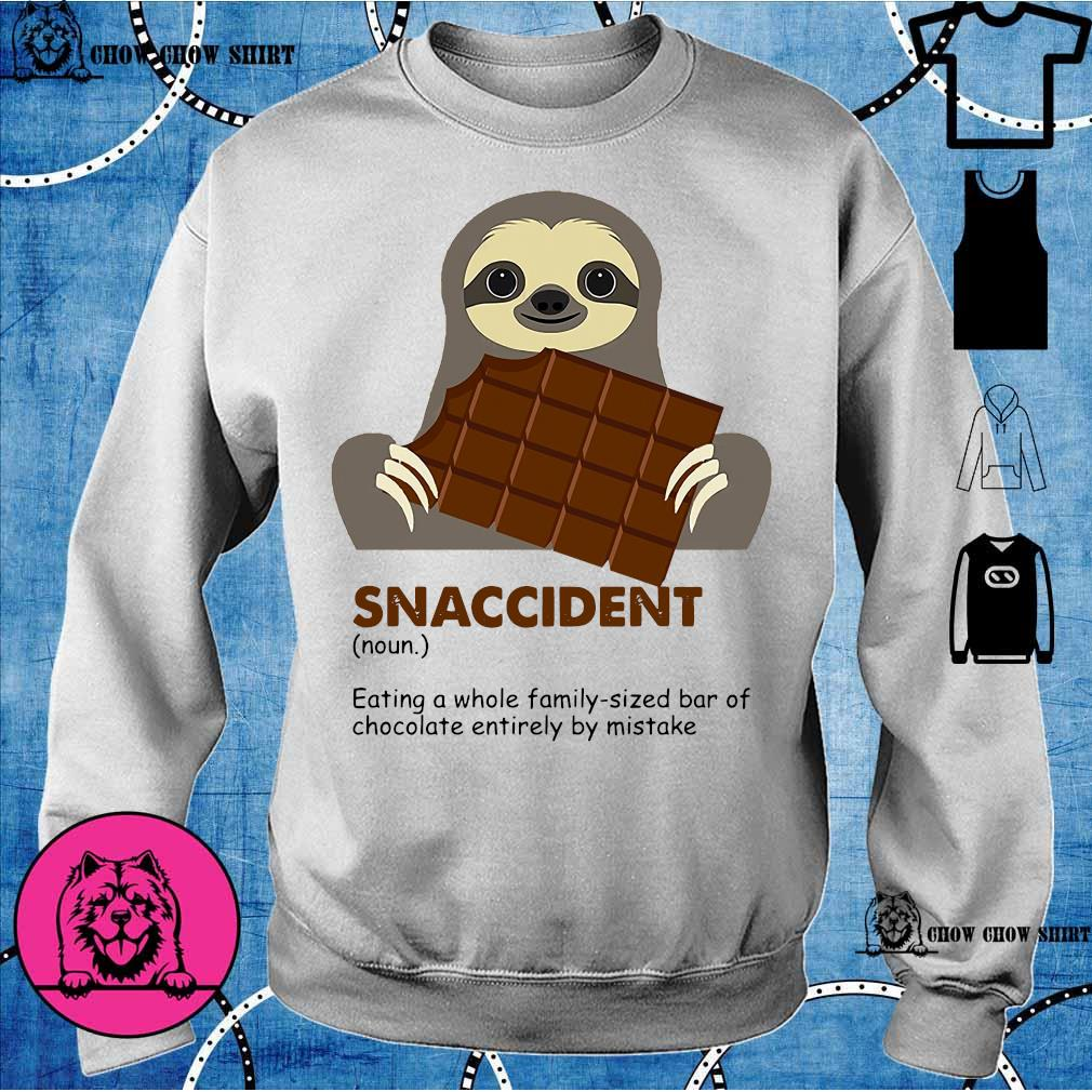 Sloth eat chocolate snaccident sweater