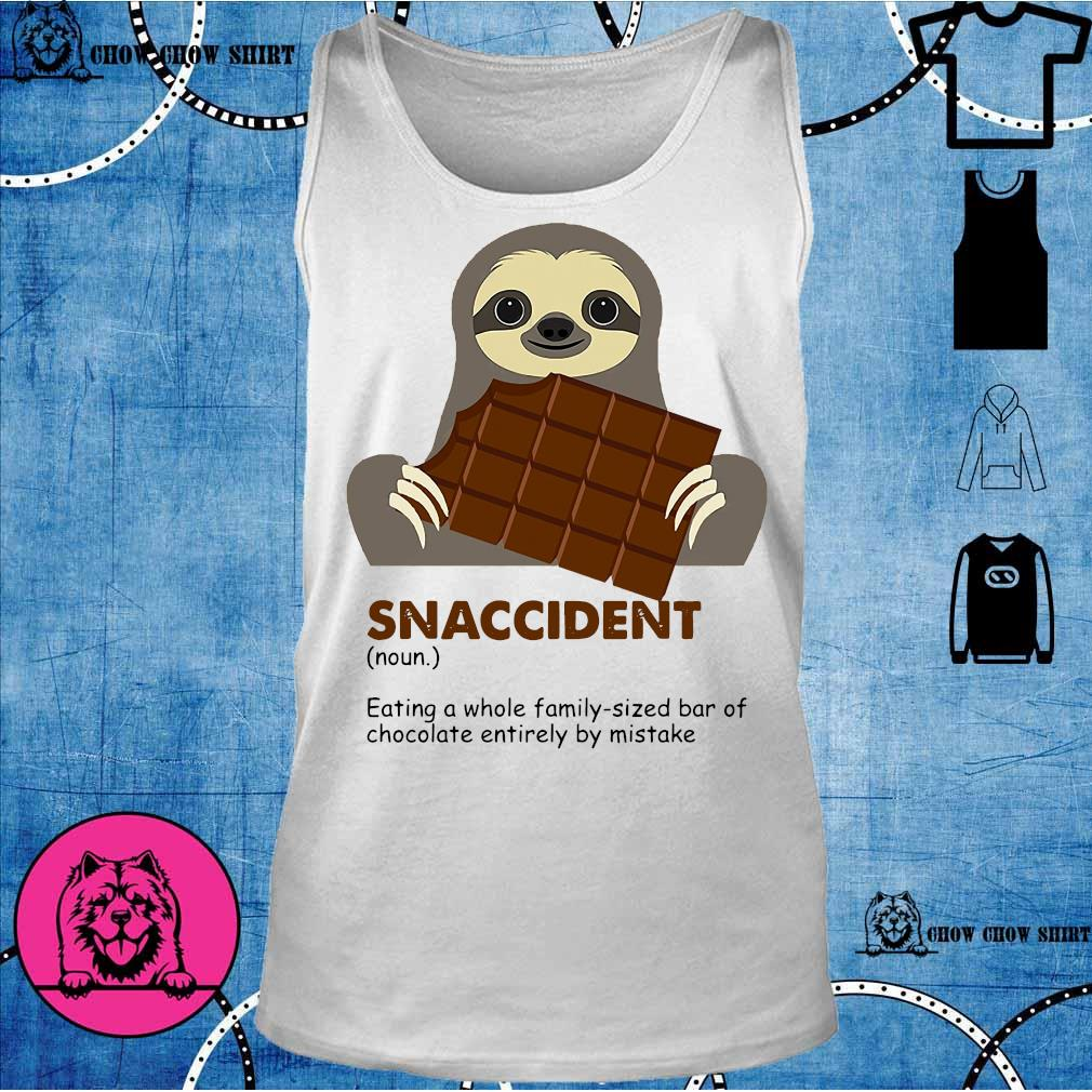 Sloth eat chocolate snaccident tank top