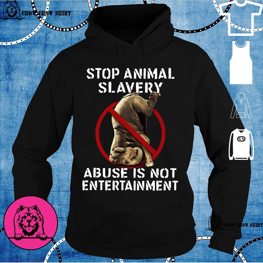 Stop animal slavery abuse is not entertainment hoodie