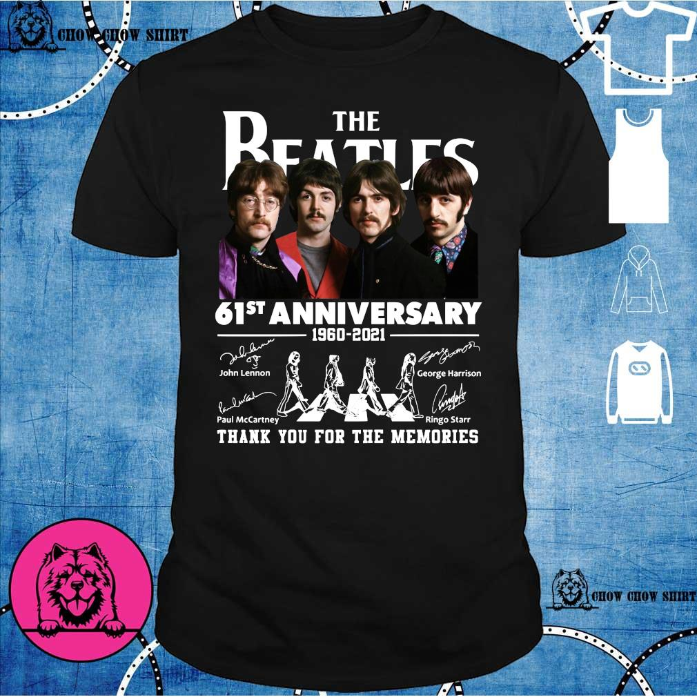 The Beatles 61st anniversary 1960 2021 thank you for the memories shirt