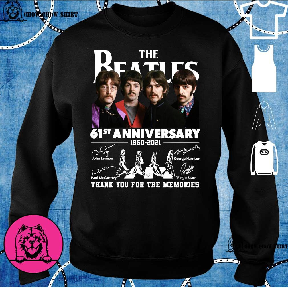 The Beatles 61st anniversary 1960 2021 thank you for the memories sweater