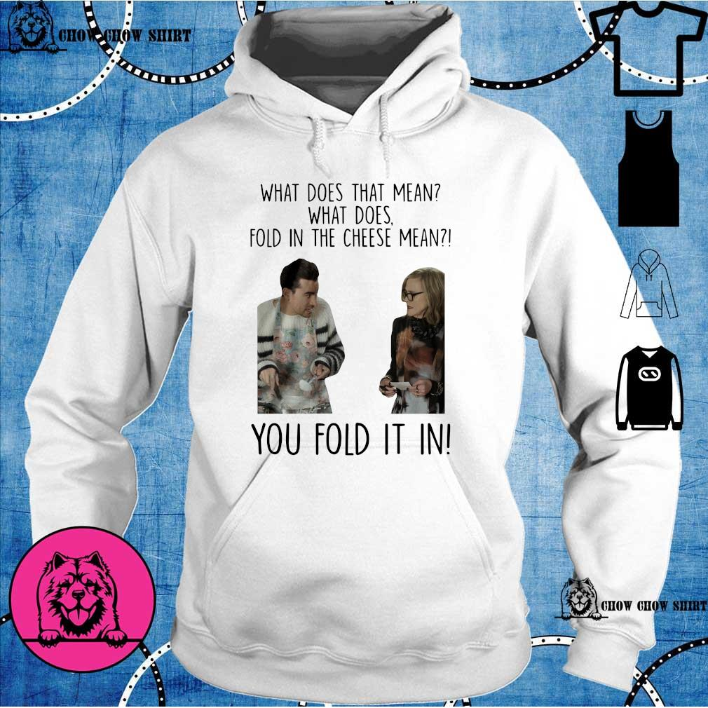 What does that mean what does fold in the cheese mean you fold it in hoodie