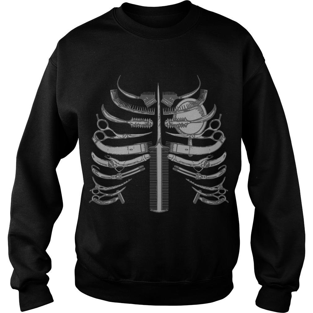 Skeleton Ribs Bone Hairstyle Shirt, hoodie, tank top and ...
