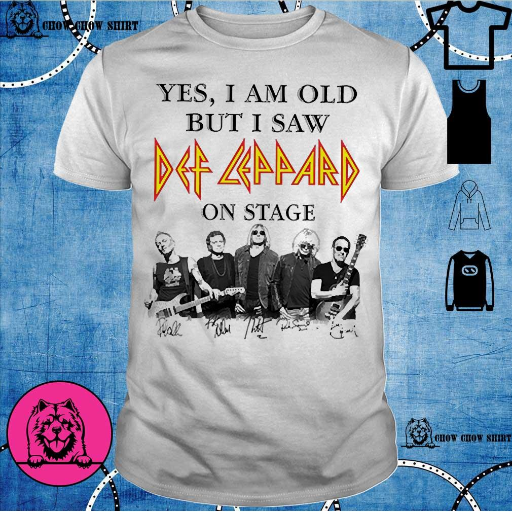 Yes I am old but I saw Def Leppard on stage shirt