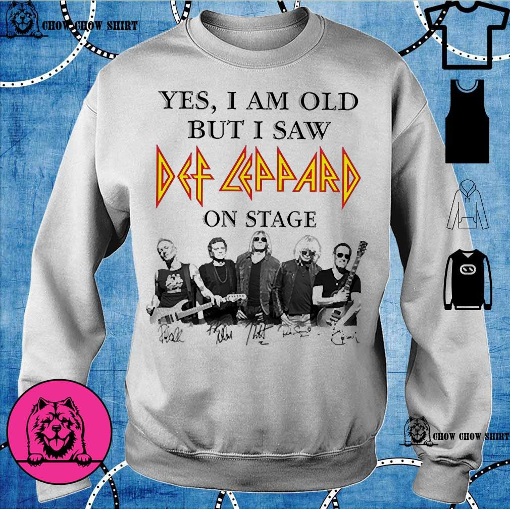 Yes I am old but I saw Def Leppard on stage s sweater