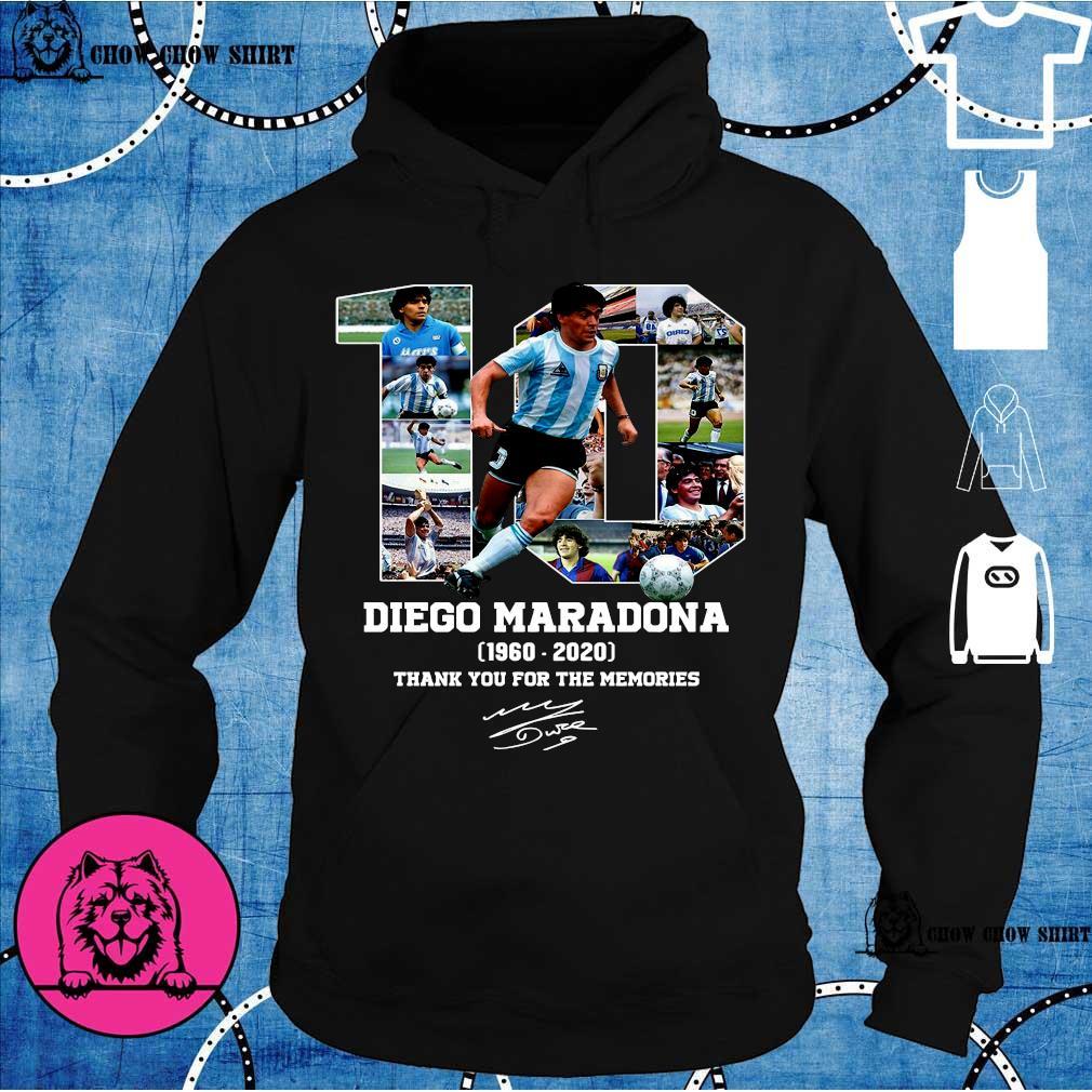 10 diego maradona 1969 - 2020 thank you the memories s hoodie