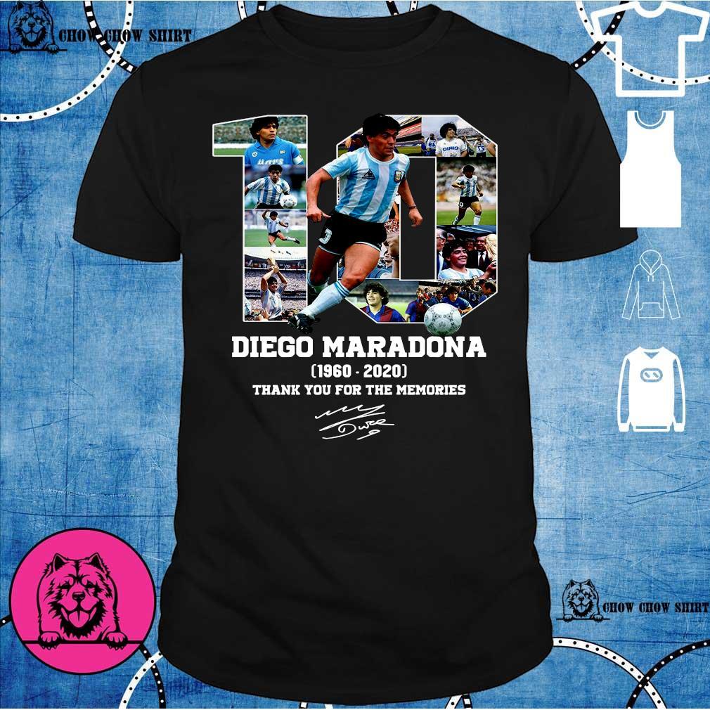 10 diego maradona 1969 - 2020 thank you the memories shirt
