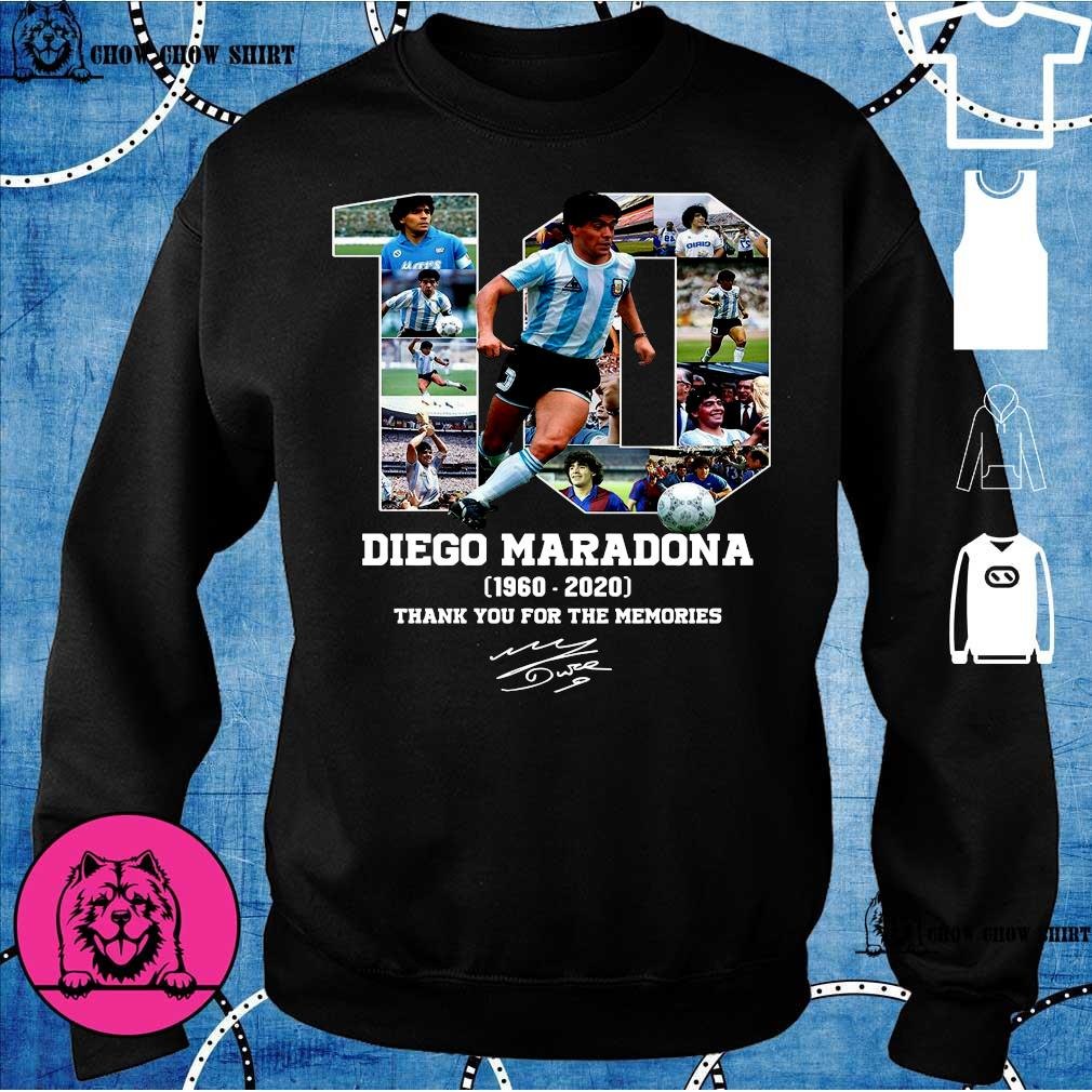 10 diego maradona 1969 - 2020 thank you the memories s sweater