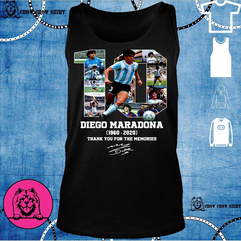 10 diego maradona 1969 - 2020 thank you the memories s tank top