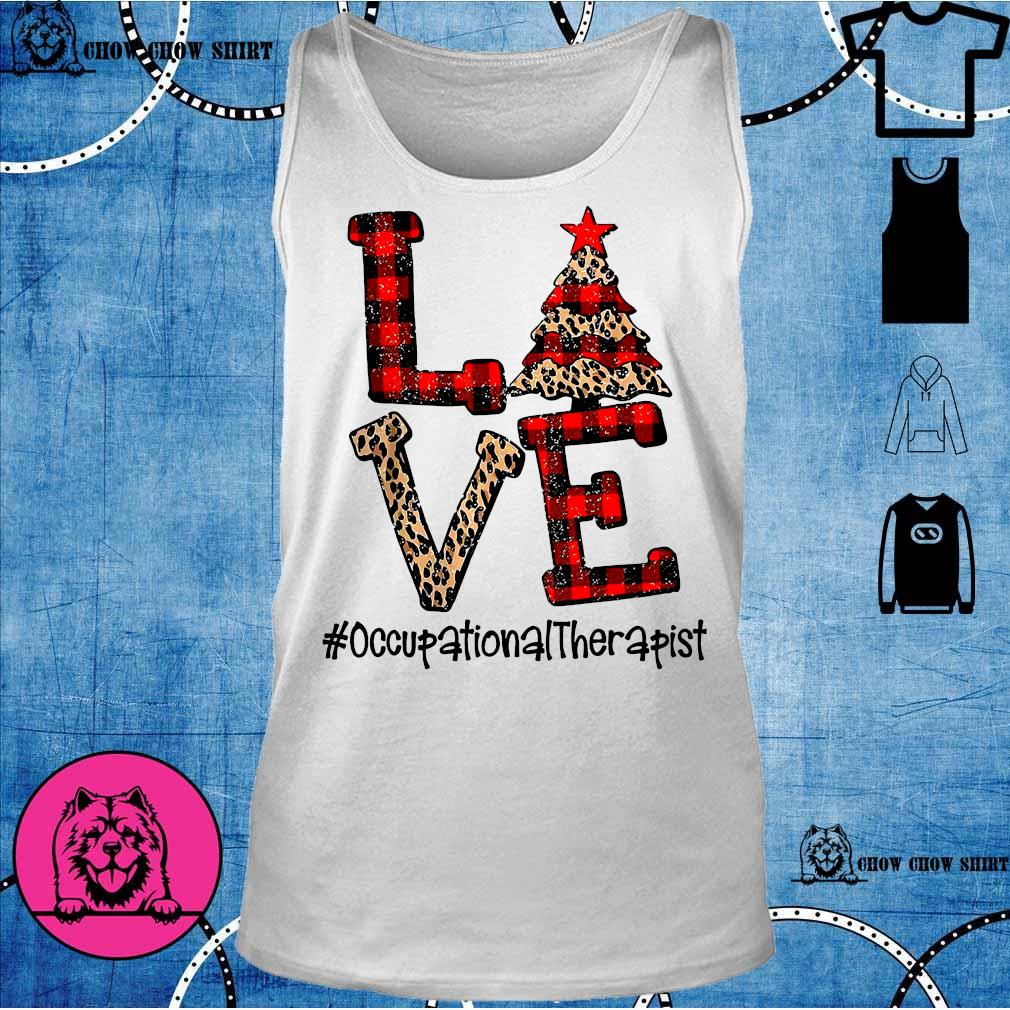 Love Occupational Therapist Christmas s tank top