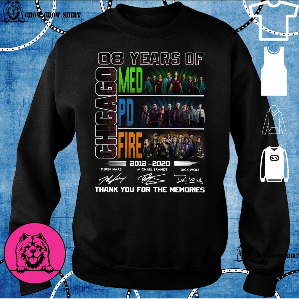 08 years of Chicago med pd fire 2012 -2020 derek haas michael brandt dick wolf thank you for the memories s sweater