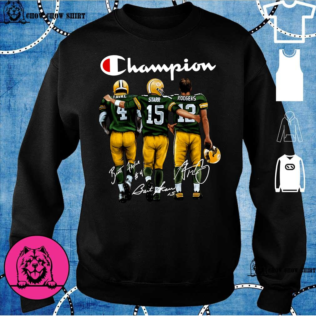Green Bay Packers Champion Favre Starr Rodgers signatures s sweater